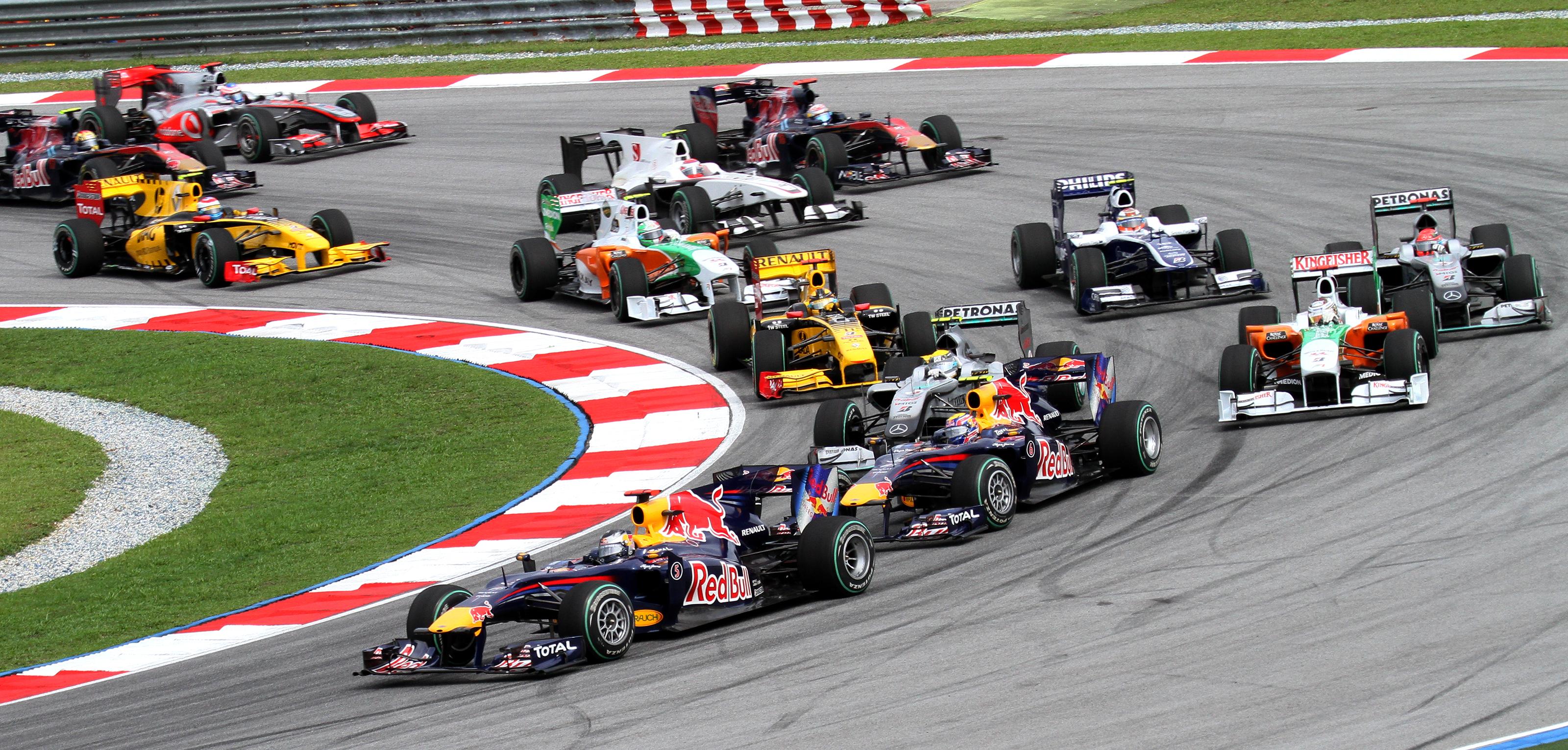 Otte Formel-1 Grand Prix'er på plads