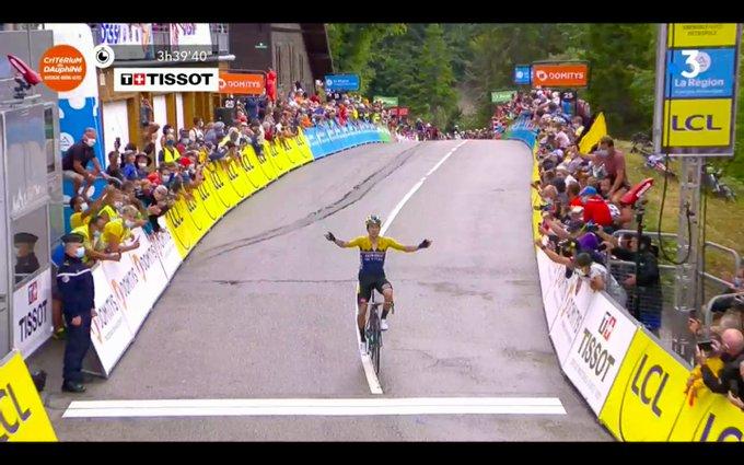 Primoz Roglic sejrede på anden etape i Critérium du Dauphine
