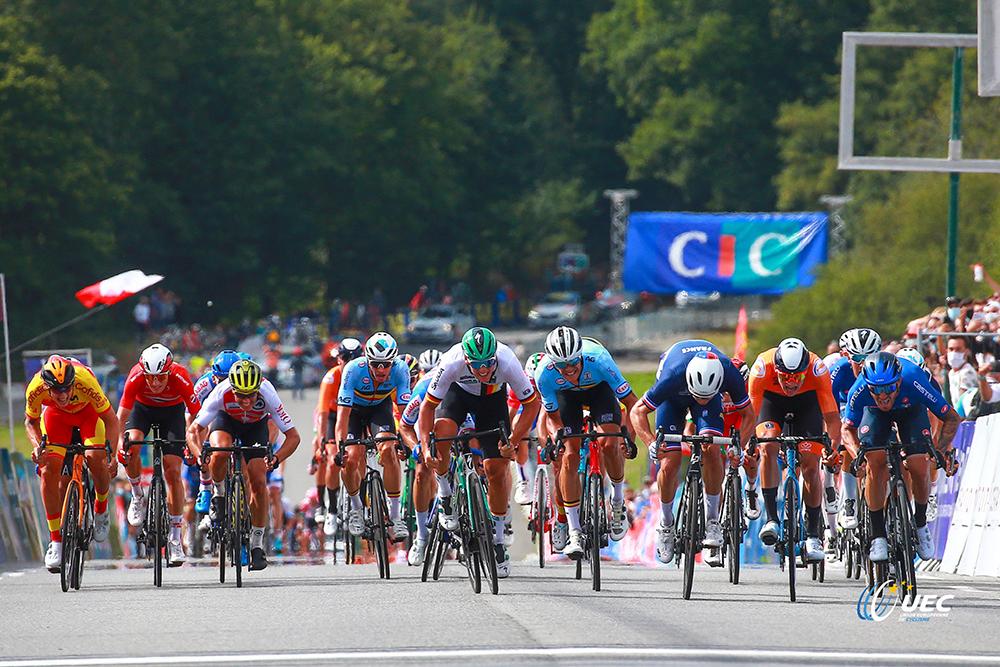 Italiensk sejr ved cykel-EM