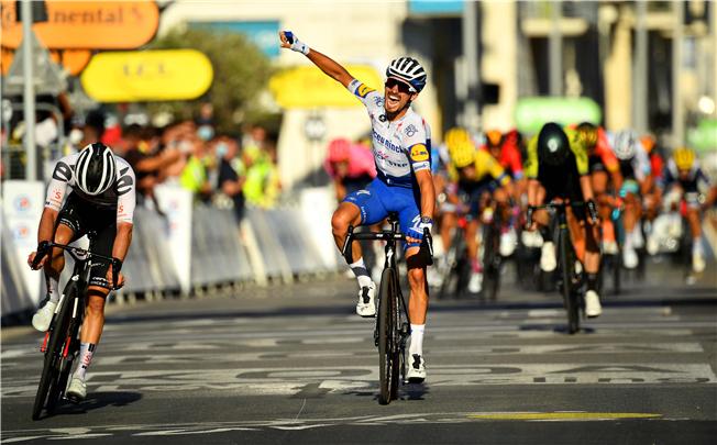 Tour de France førertrøjerne efter 2. etape