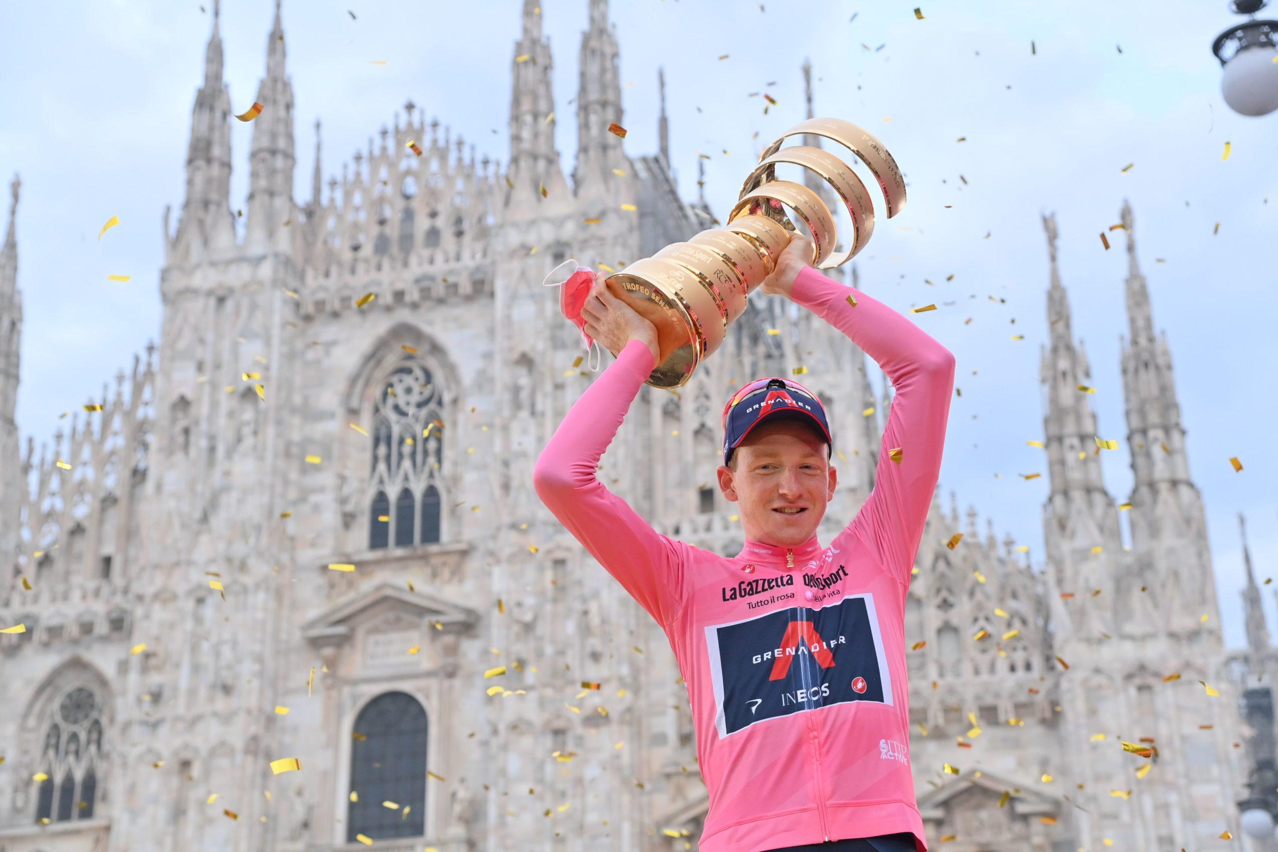 Historisk afslutning på Giro d'Italia