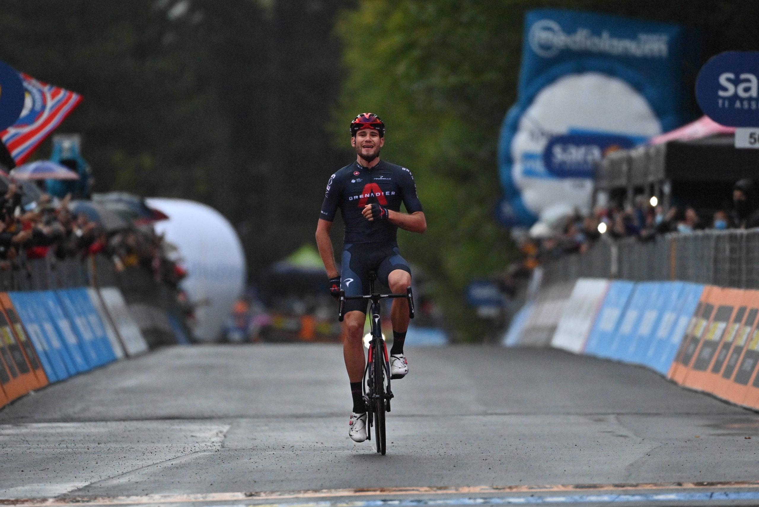 Sejr til temporytter på bjergrig etape i Giro'en