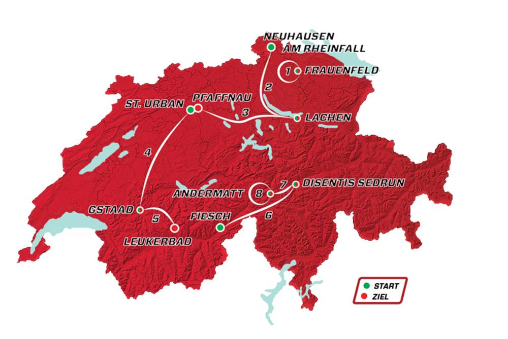 Det 84. Schweiz Rundt præsenteret