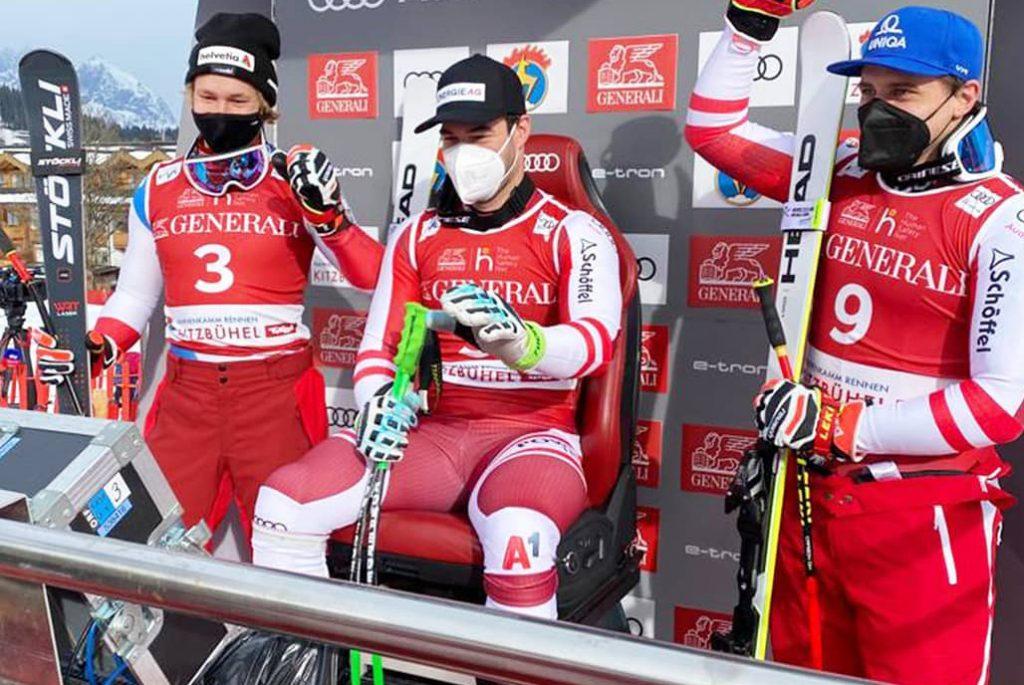 Østrigsk sejr i Super G i Kitzbühel