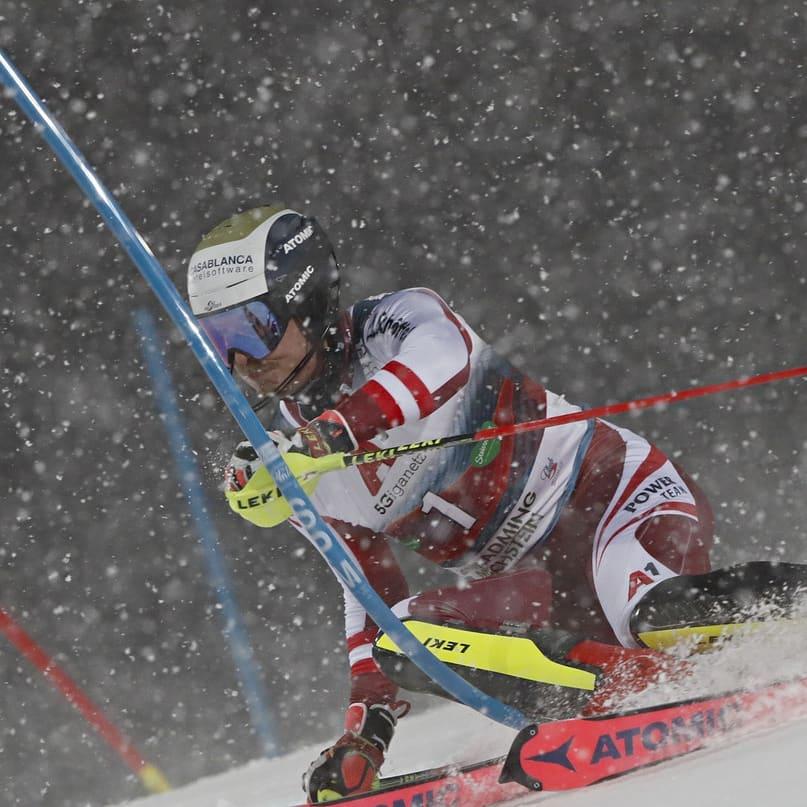 Slalomsejr til Marco Schwarz i Schladming
