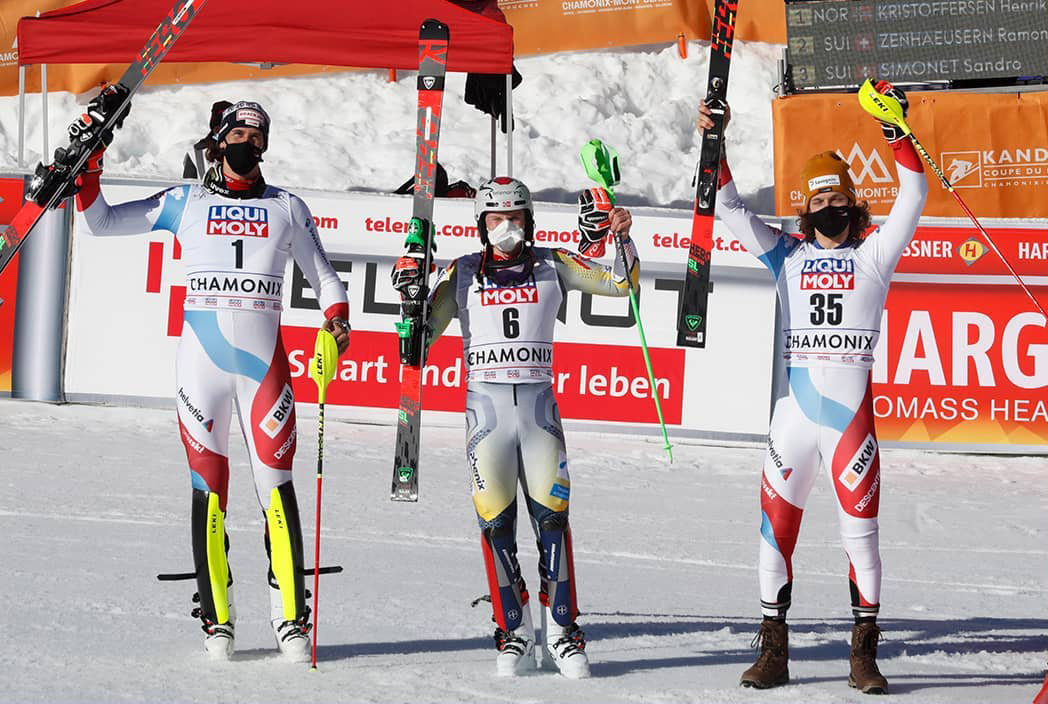 Norsk slalomsejr i Chamonix