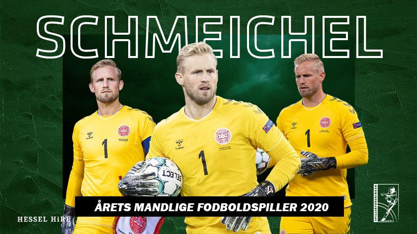 Kasper Schmeichel årets fodboldspiller for andet år i træk