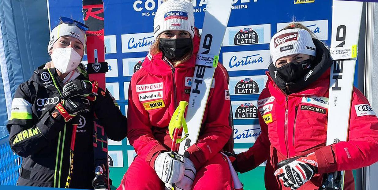 Schweizisk guld i VM styrtløb