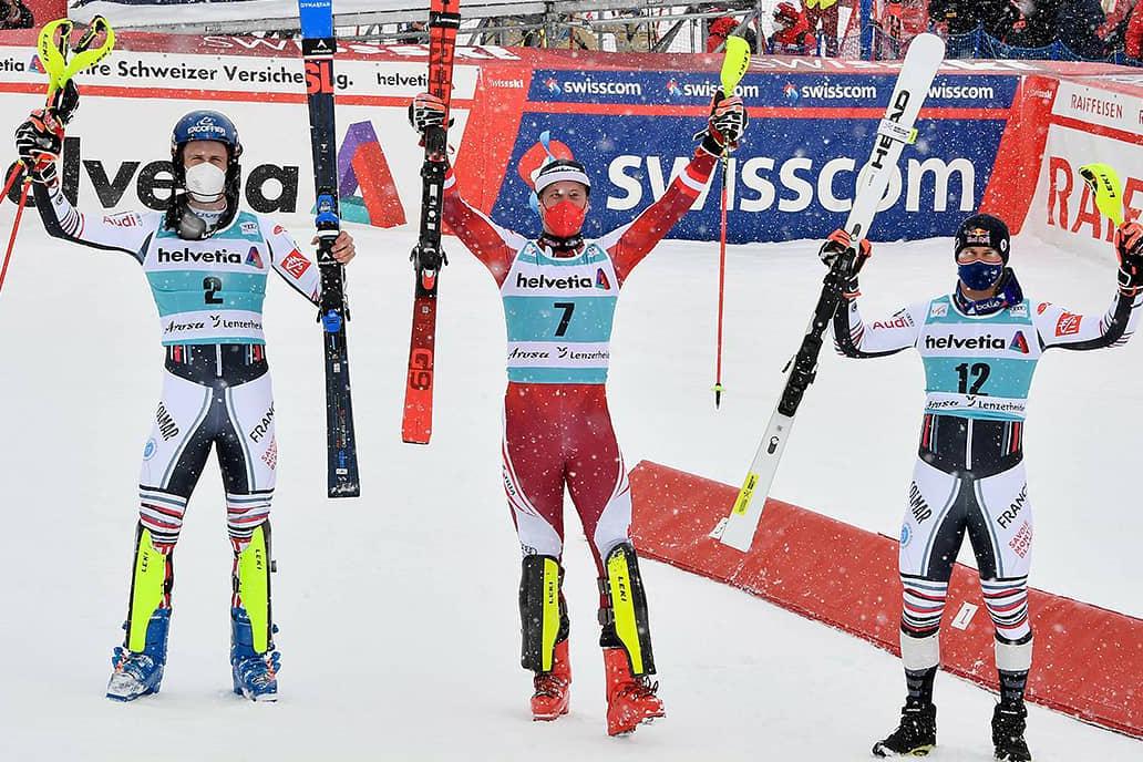 Østrigske Manuel Feller sluttede World Cup-sæsonen med slalomsejr