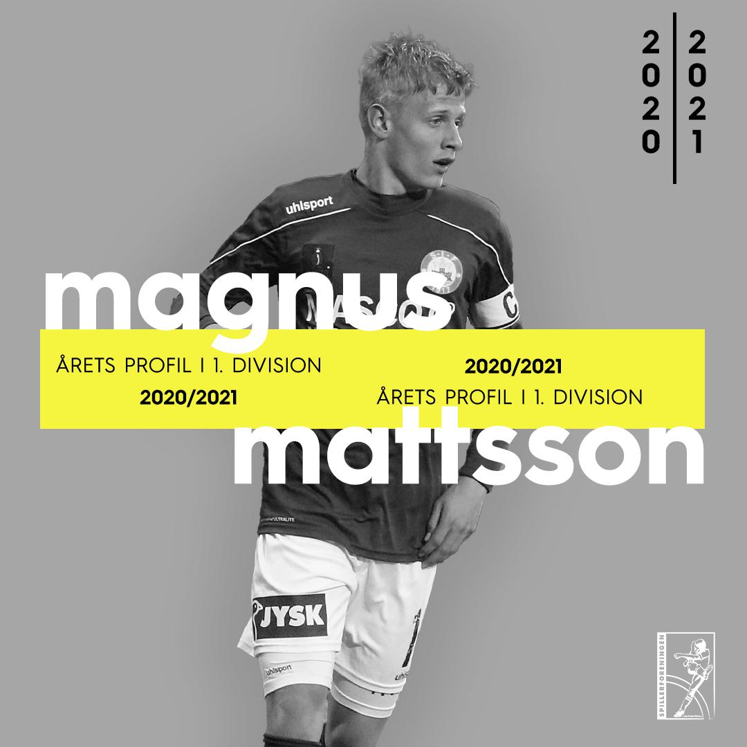 Mattsson er suveræn vinder af Årets Profil i 1. division i sin comebacksæson