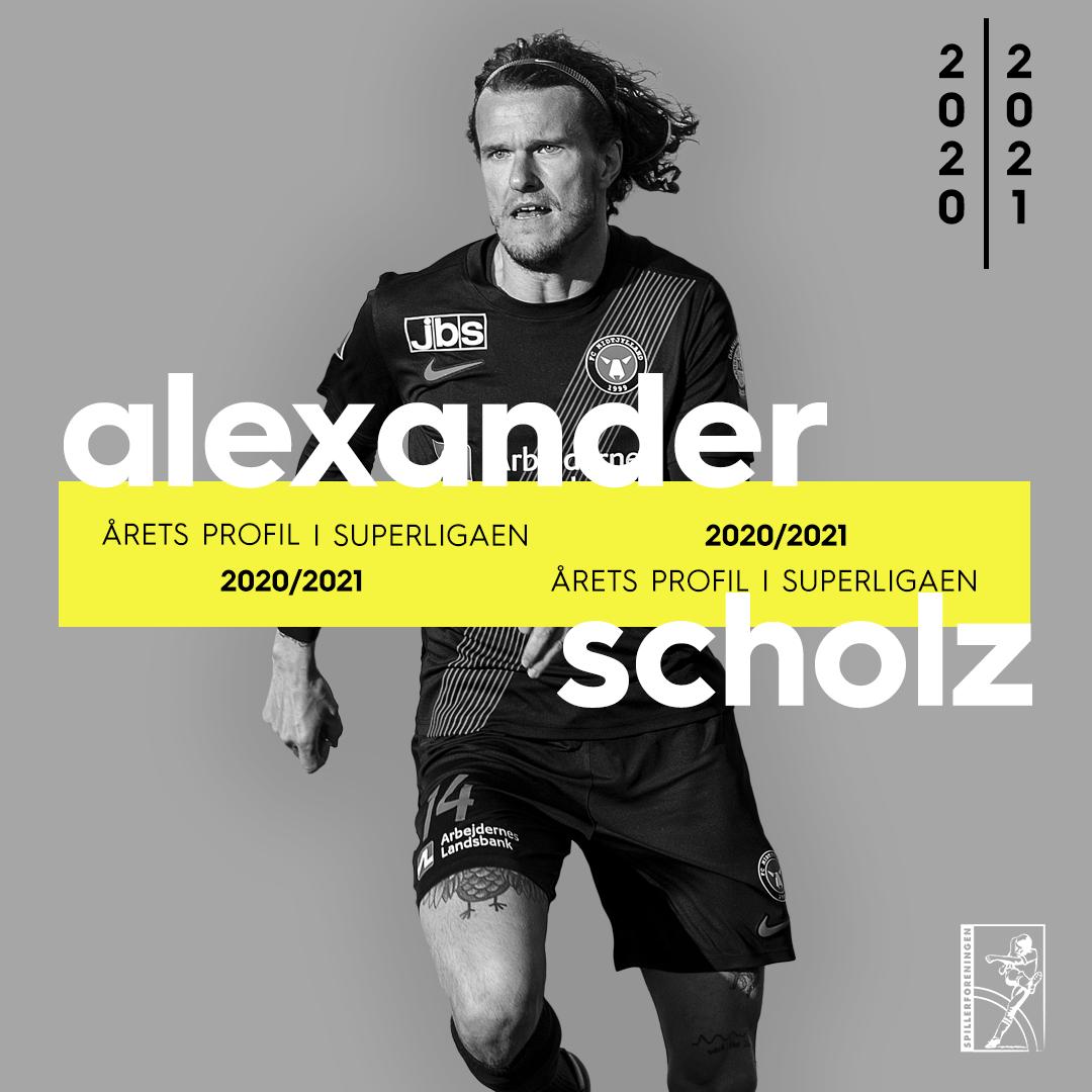 Scholz er Årets Profil i Superligaen foran offensive profiler